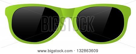 vector yellow sun glasses with the light shine protect before sun shining