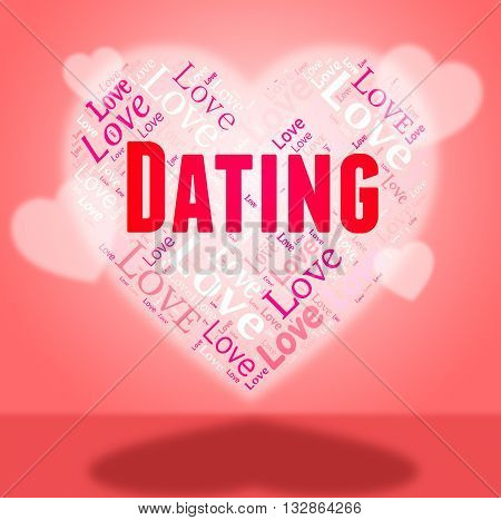 Dating Heart Shows Sweetheart Hearts And Relationship