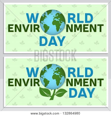 World Environment Day Greeting Card, Flyer. World Environment Day Poster.  Banner  For Website Templ