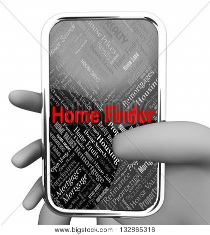 Home Finder Means Search For And Pinpoint 3D Rendering