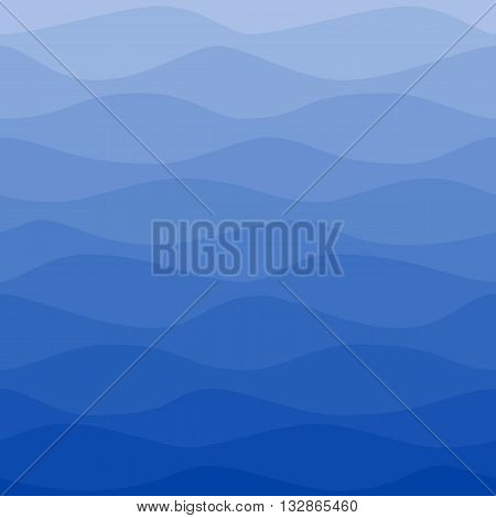 Seamless nautical pattern. Gradual color waves. Graphic design element for web sites, stationary printables, fabric, scrapbooking etc.