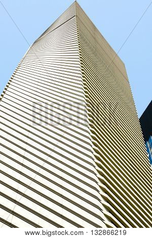 Close up of modern architecture in downtown Tokyo, Japan