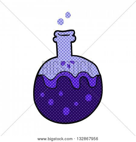 freehand drawn cartoon magic potion