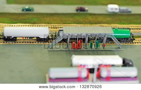 City In Miniature. Fuel Tanks At Oil Terminal.