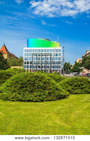 New modern building of Croatian Music Academy in Zagreb, Croatia