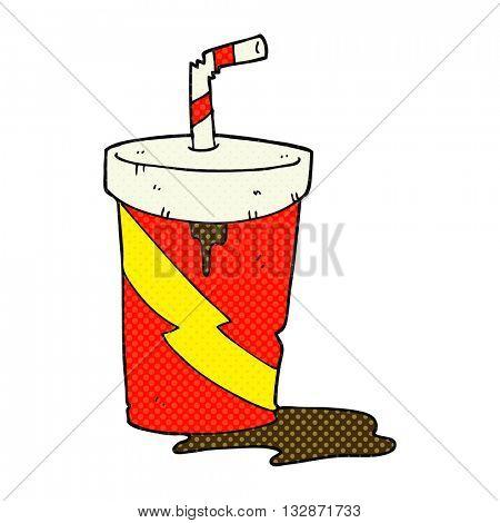 freehand drawn cartoon junk food cola drink
