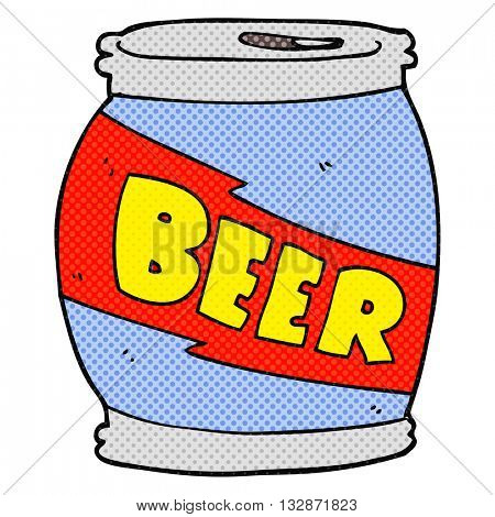 freehand drawn cartoon beer can