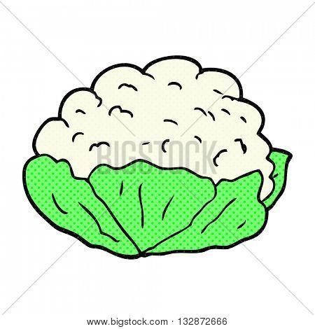 freehand drawn cartoon cauliflower