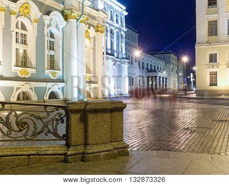 White Nights In St Petersburg. State Hermitage
