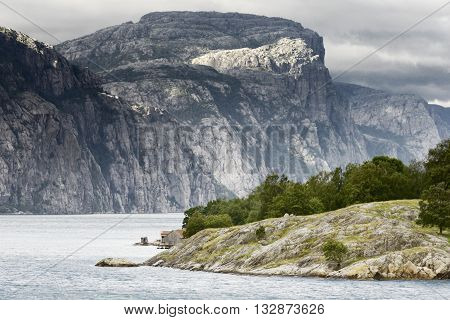 Norway landscapes. Beautiful Norwegian Fjords. Norwegian fjord and mountains