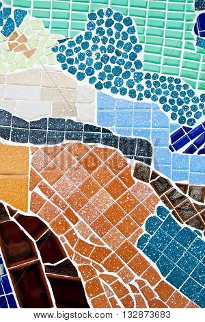 the colorful of mosaic abstract for background