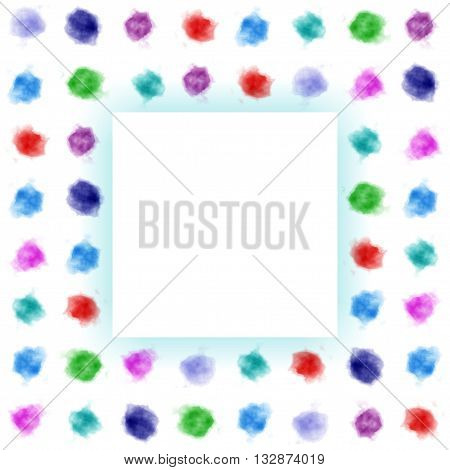 Artistic pattern mixed watercolor stains or dots. Watercolor background. Watercolor splash. Cover Designer. Watercolor frame.Artistic pattern mixed watercolor dots. Illustration