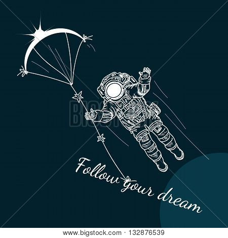 Follow Your Dreams motivation poster space set