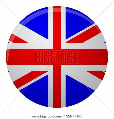 United Kingdom of Great Britain flag icon flat. Flag icon or symbol of great kingdom britain. Vector illustration