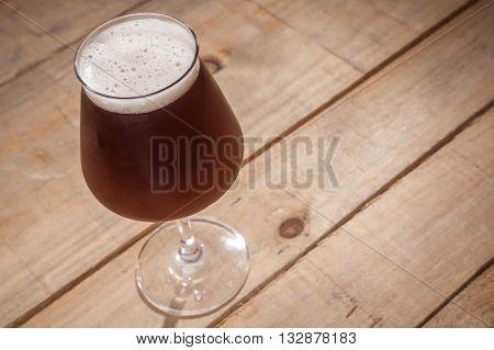 Brown Ale On Wood