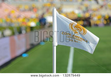Soccer Corner Flag During Copa America Centenario