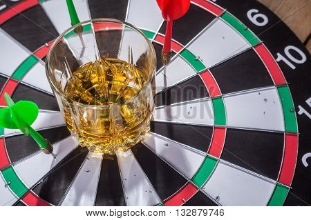 Whiskey On A Target