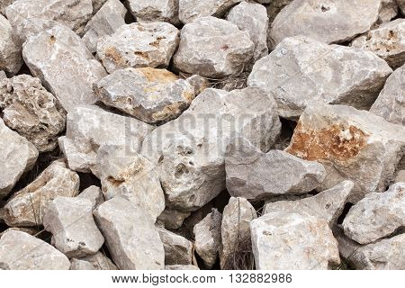A pile of stones - Cairn - rubble - Background - texture