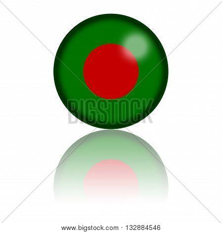 Bangladesh Flag Sphere 3D Rendering