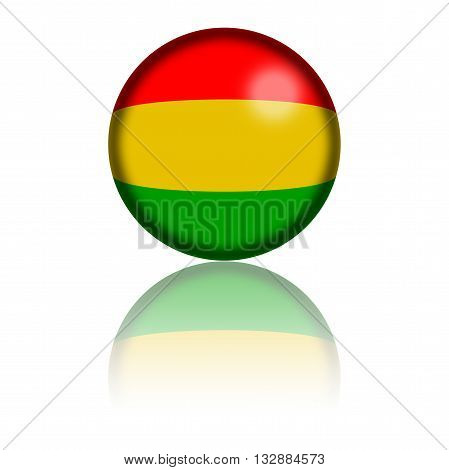 Bolivia Flag Sphere 3D Rendering