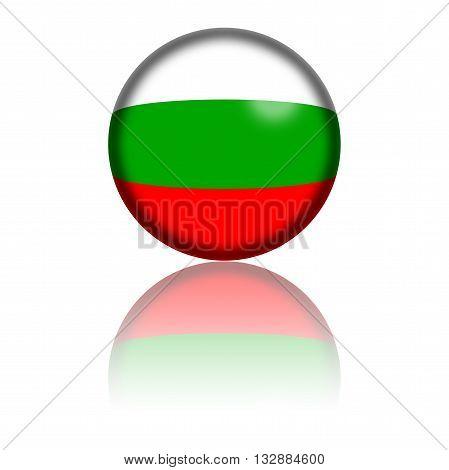 Bulgaria Flag Sphere 3D Rendering