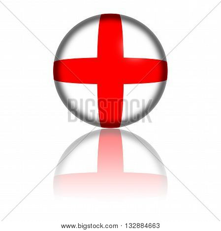 England Flag Sphere 3D Rendering