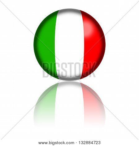 Italy Flag Sphere 3D Rendering