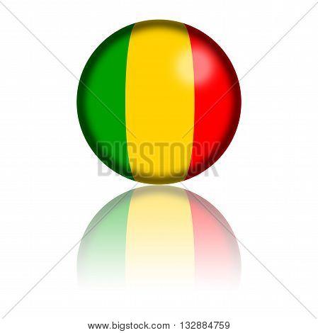 Mali Flag Sphere 3D Rendering