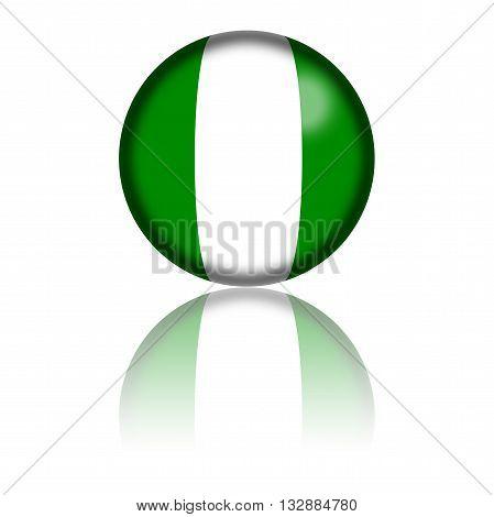 Nigeria Flag Sphere 3D Rendering