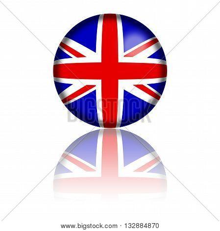 United Kingdom Flag Sphere 3D Rendering