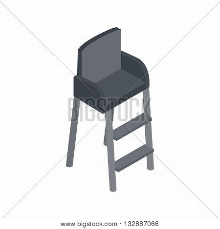 Tennis referee chair icon in isometric 3d style on a white background