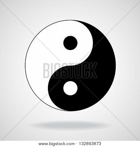 Ying yang symbol of harmony and balance. Black and white