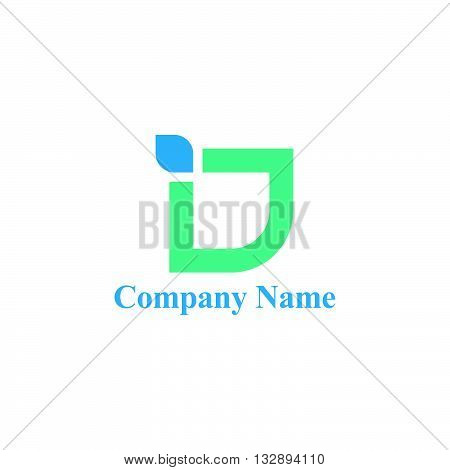 ID letter logo with leaf shaping for environment for business and environment company