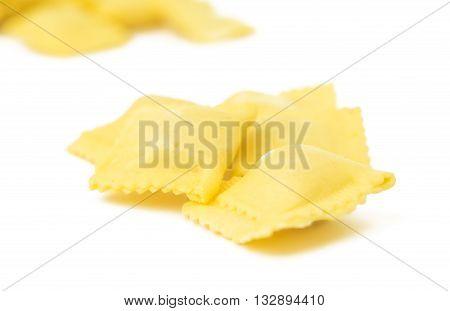 italian, meal, ravioli isolated on white background