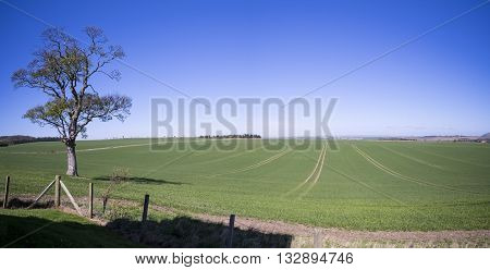 Sweeping countryside panorama in East Lothian Scotland