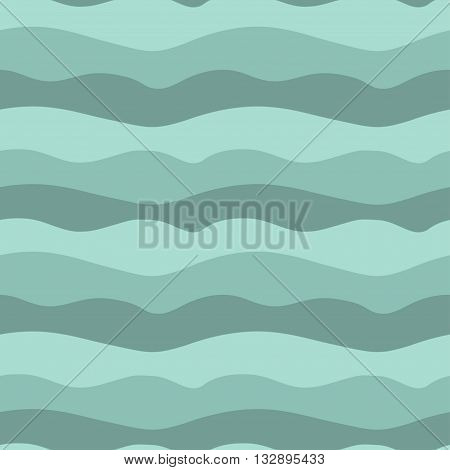 Vector illustration of sea waves. Seamless repeating pattern.