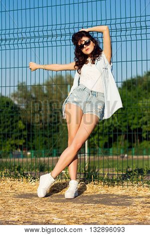 Beautiful Brunette Girl In Swag Fashion Style