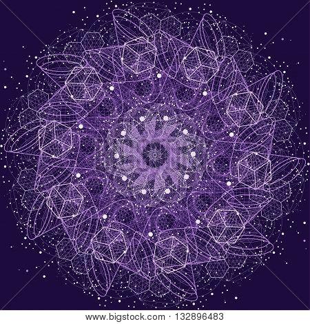 Sacred Geometry Mandala. Alchemy, Religion, Philosophy