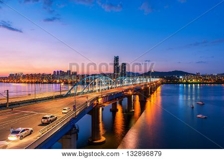 Korea,seoul At Night, South Korea City Skyline