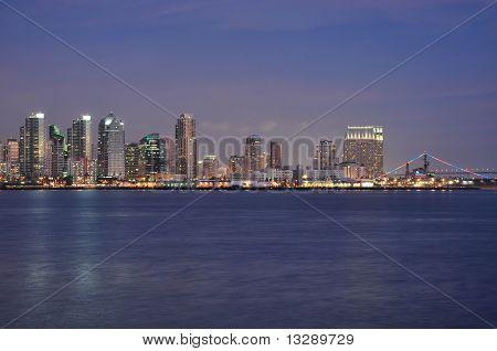 Bay and skyline
