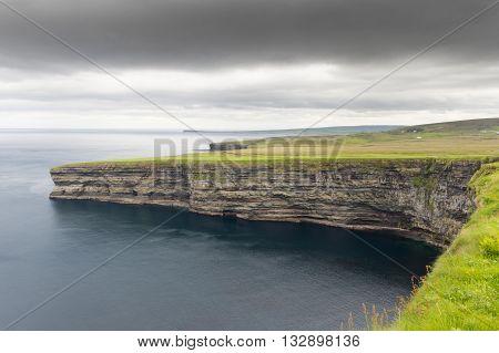 View on cliffs at the Bunatrahir Bay westcoast of Ireland.