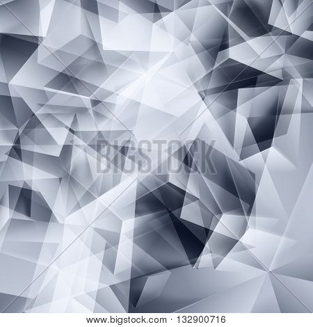 Iridescent gray background seamless pattern of polygonal