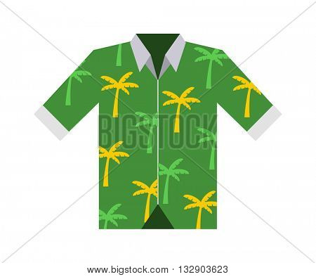 Hawaii shirt vector illustration.