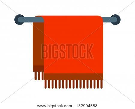 Vector illustration of red hand holder towel