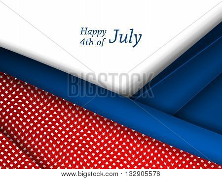 Happy 4th of July.  Independence Day Vector Design . July Fourth.  Vector Colorful Design.  Eps10