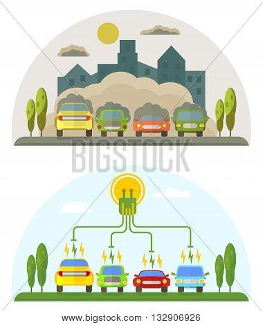 Green Energy And Pollution Cars