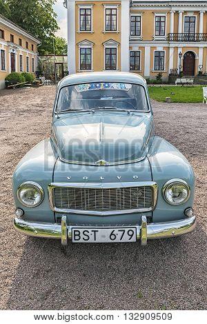 SKOTTORP SWEDEN - MAY 29 2016: Retro vehicle Volvo PV544 at Skottorps castle in Sweden.