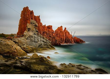 Red Rocks in Arbatax on Sardegna Island Italy