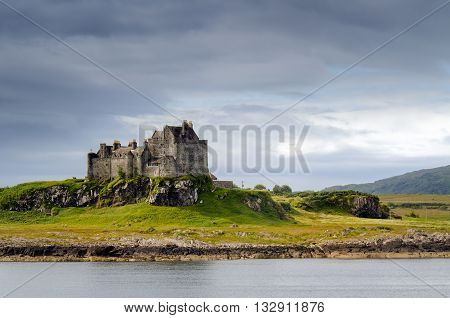 Duart Castle in daylight Isle of Mull Scotland