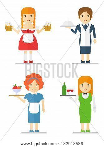 Set Of Waitress